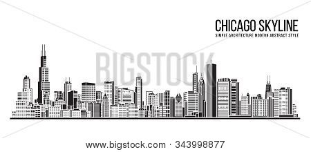 Cityscape Building Simple Architecture Modern Abstract Style Art Vector Illustration Design -  Chica