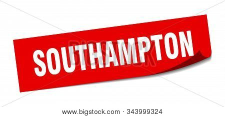 Southampton Sticker. Southampton Red Square Peeler Sign
