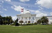 State Capital in Montgomery, Alabama on a pretty day. poster