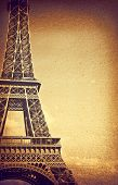 Vintage detail of Eiffel Tower poster