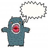 cartoon scary monster poster