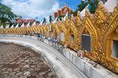 Columbarium in Wat Plai Laem - buddhist temple on Koh Samui Thailand poster