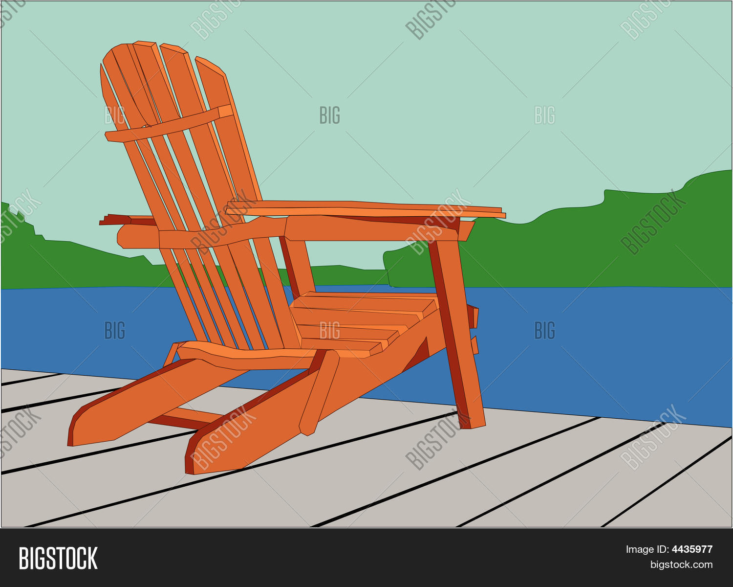 Adirondack Chair On Vector & Photo (Free Trial) | Bigstock