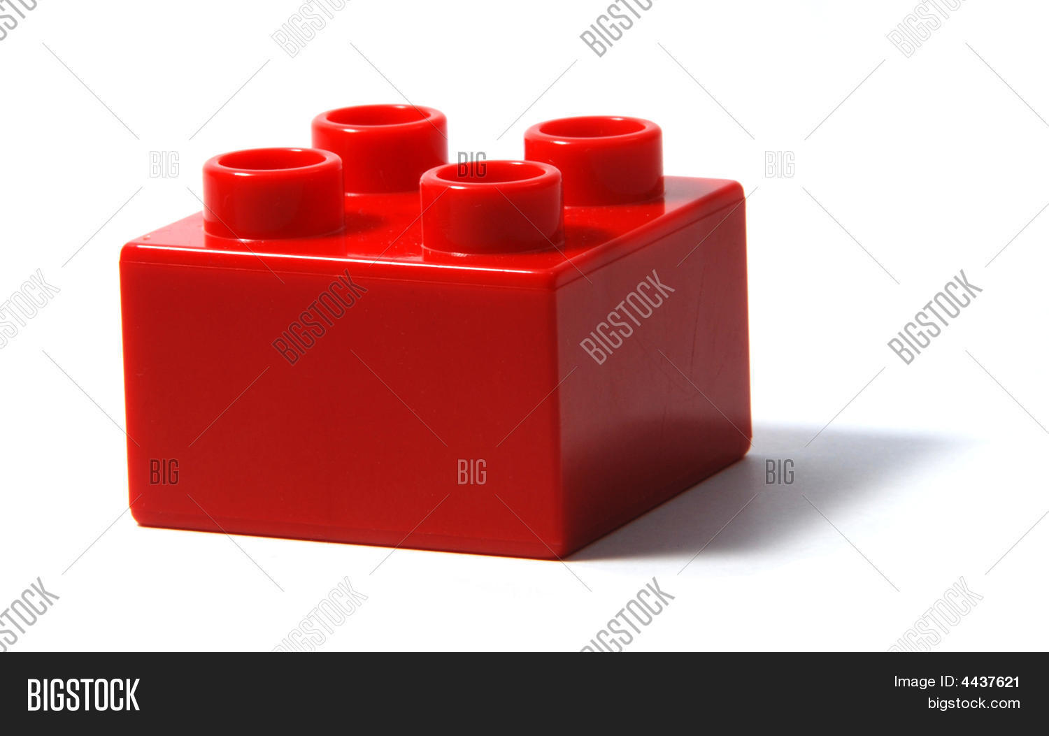 Red duplo building block image photo bigstock