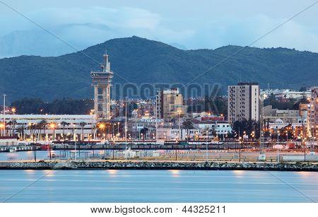 City Of Algeciras At Dusk. Spain