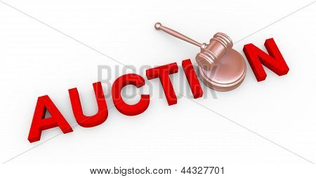 3D Auction And Gavel
