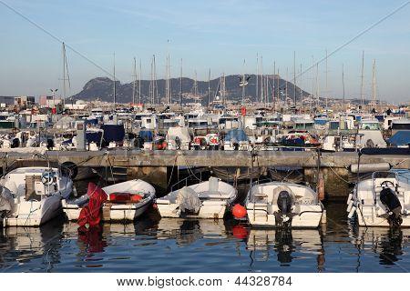 Marina In Algeciras. Andalusia Spain