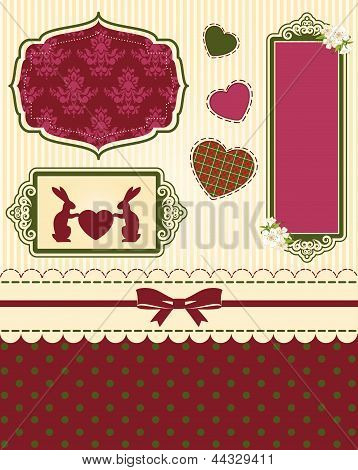 Beautiful easter card. Vector background.