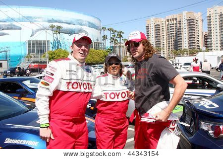 LOS ANGELES - APR 9:  Dakota Meyer, Wanda Sykes, Andy Bell at the Toyota ProCeleb Race Press Day 2013 at the Toyoto Grand Prix Circuit on April 9, 2013 in Long Beach, CA