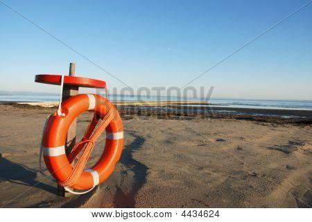 Red life belt