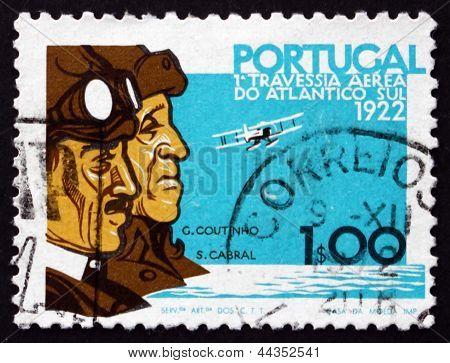 Postage Stamp Portugal 1972 Sacadura Cabral And Gago Coutinho