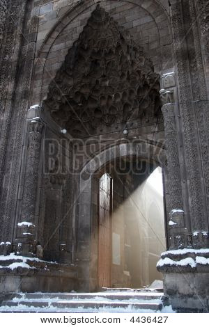 Light Beam From The Turkish Mosque Entrance