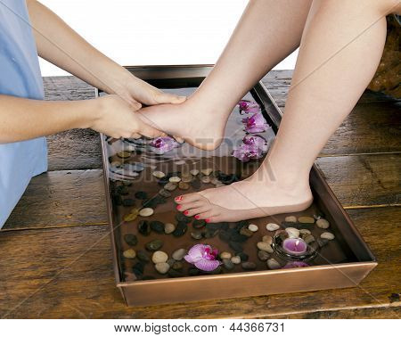Foot Massage At Day Spa By Masseuse