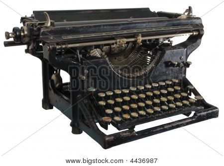 Old Rusty Typewriter