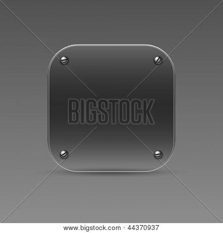 Glass icon. Vector eps10