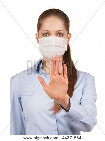Girl In A Mask Held Out His Hand