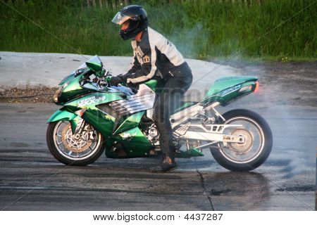Racing Motorcycle Rider
