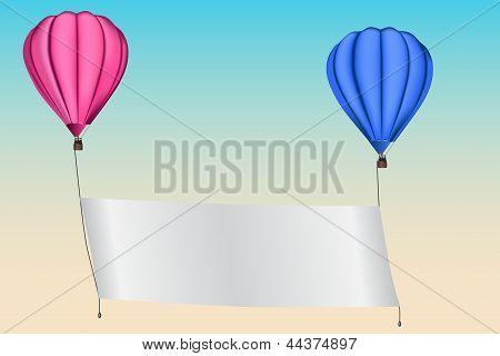 An announcement in a hot air balloon