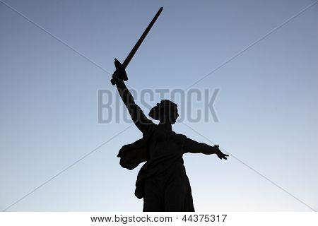 Legendary Statue Of Mother Russia, Volgograd (stalingrad), Russia.