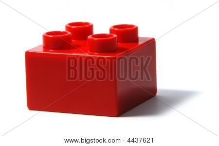 Red Duplo Building Block