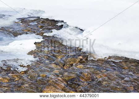 Snow, Ice And Water in spring