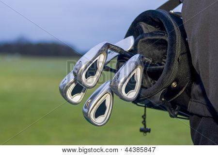 Golfbag With Clubs In Bag