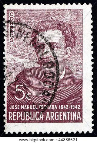 Postage Stamp Argentina 1942 Jose Manuel Estrada