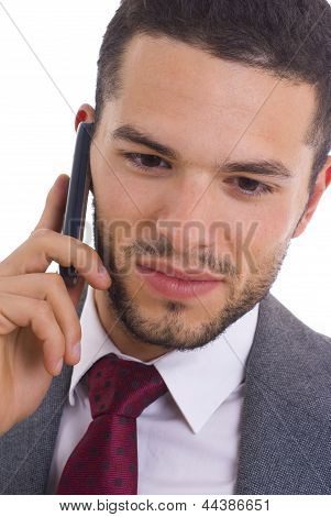 Business Man With Cellphone