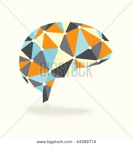 Vintage Brain Activity Abstract Design