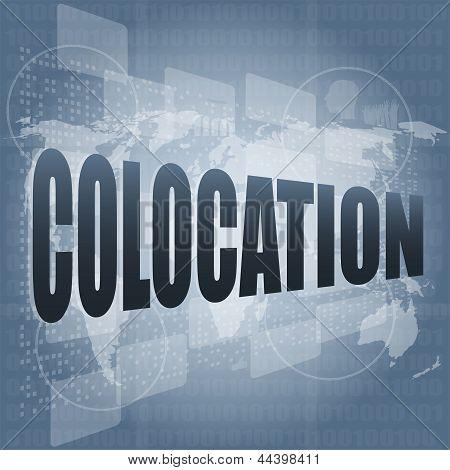 Colocation - Media Communication On The Internet, art illustration