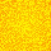 Abstract yellow pixel mosaic seamless background. This is file of EPS10 format. poster