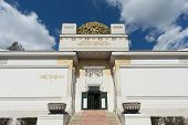 Vienna Secession building and landmark of capital city poster