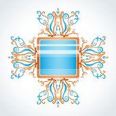 Blue and orange brooch. Illustration 10 version poster