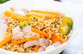 pancit canton for merienda or snacks popularize in the Philippines poster