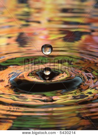 Water Droplet Ripple Pattern Multi Color Double Drop