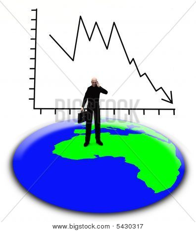 Businessman And The Earth
