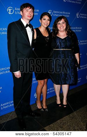 NEW YORK-NOV 21; (l-r) Mike O'Brien,Cecily Strong& Aidy Bryant attend American Museum of Natural History's 2013 Museum Gala at American Museum of Natural History on November 21, 2013 in New York City.