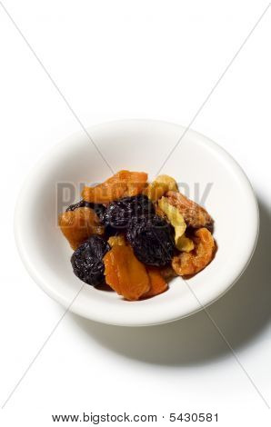 Bowl Of Steward Dry Fruit With Syrup