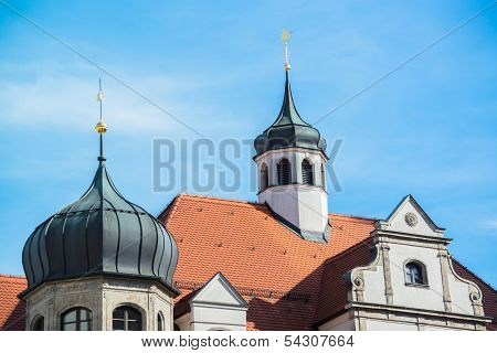 Buildings in munich city center, Marienplatz