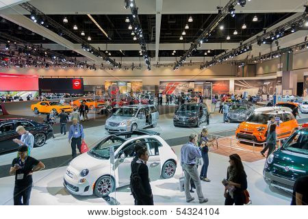 LOS ANGELES CA. NOVEMBER 20: LA Auto Show at the L.A. Convention Center on November 20 2013 in Los A