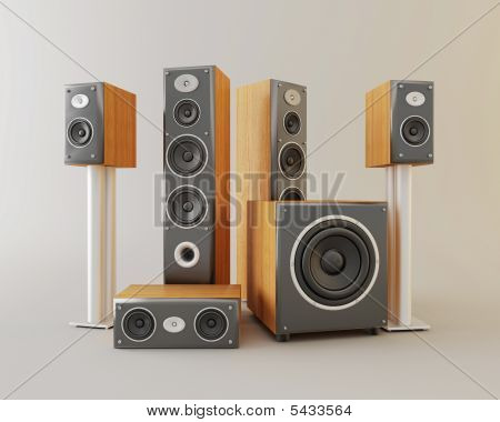 Audio System For A House Cinema