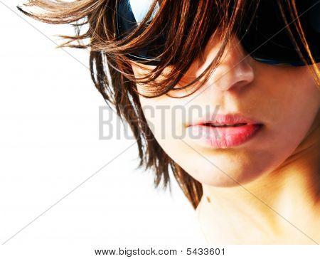 Portrait Of A Beautiful Girl In Sunlight