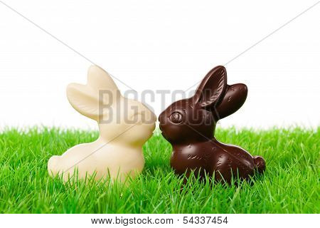 Black And White Easter Rabbits