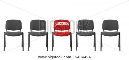 Red Chair With An Inscription - Success