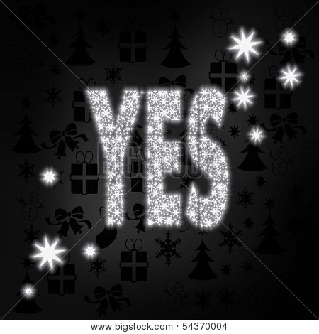Noble Yes Symbol With Stars