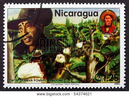 Postage Stamp Nicaragua 1980 German Pomares Ordonez, Revolutiona