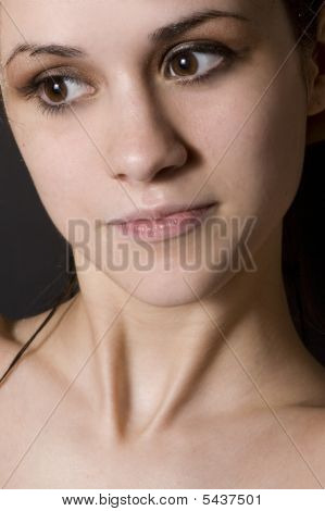 Closeup Of Young Womans Face