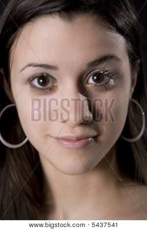 Young Woman With White Eyelashes