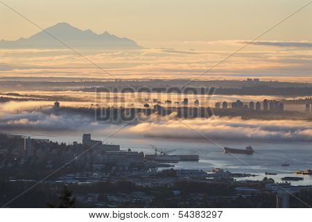 Vancouver Sunrise Fog