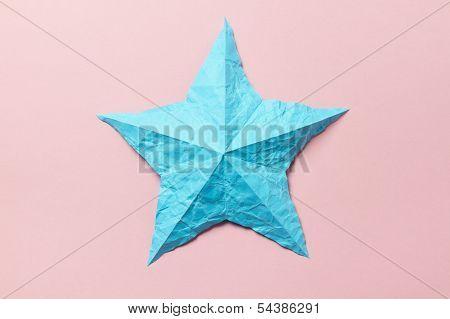Wrinkled Origami Star